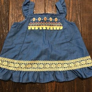 Denim top by Little Lass